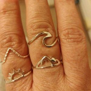 Set of 4 Pura Vida Rings Size 8